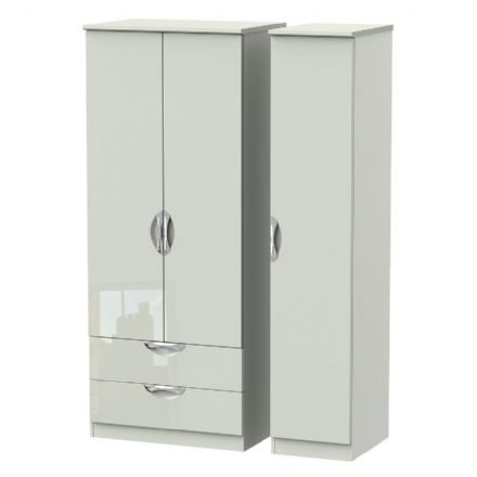 Camden Tall Triple 2 Drawer Robe
